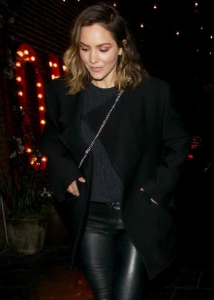 Katharine McPhee - Out to Dinner with David Foster in Los Angeles