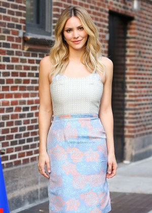 Katharine McPhee - Outside the Late Show with Stephen Colbert in New York