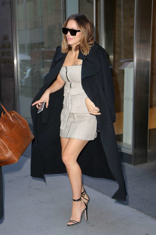 Katharine McPhee - Seen Leaving SiriusXM in New York City
