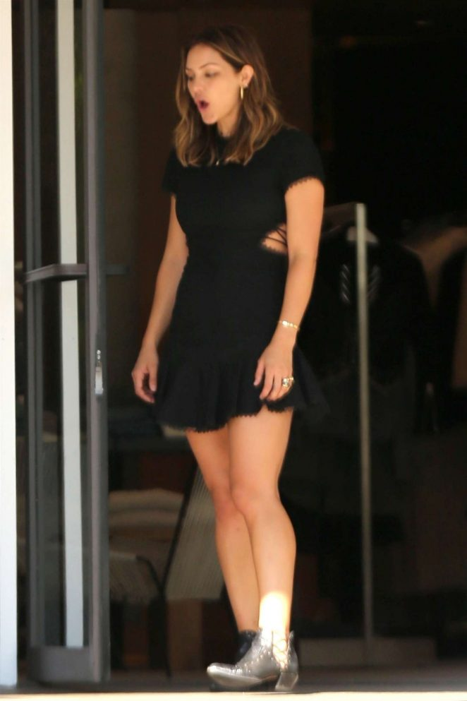 Katharine McPhee shopping in Beverly Hills