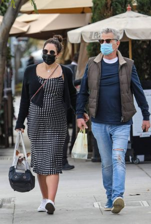 Katharine McPhee - With David Foster lunch at Il Pastaio in Beverly Hills