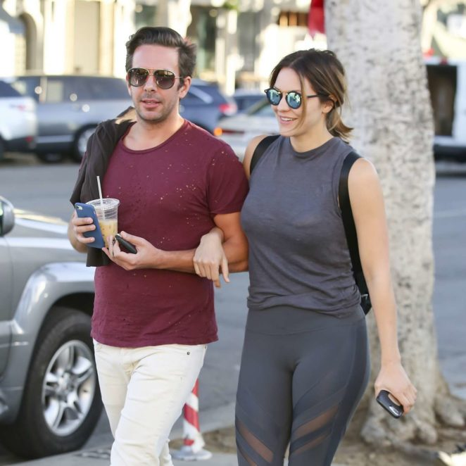 Katharine McPhee with male friend shopping in LA