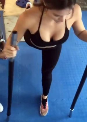 Katharine McPhee - Working Out at a Gym