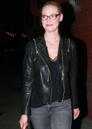 Katherine Heigl in Jeans at Hotel Cafe in LA