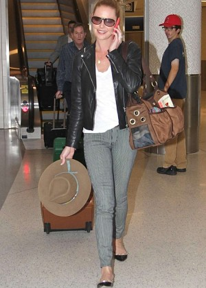 Katherine Heigl in Jeans at LAX Airport in LA