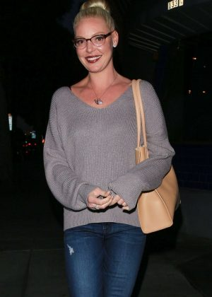 Katherine Heigl - Leaves Matsuhisa restaurant in Beverly Hills