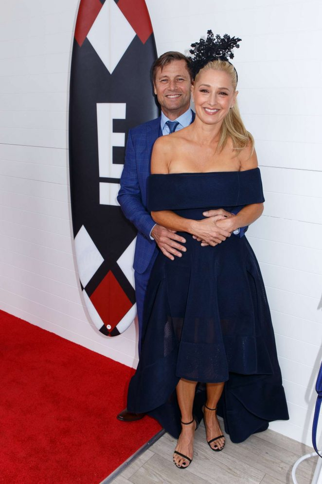 katherine lanasa mumm marquee on melbourne cup day in melbourne