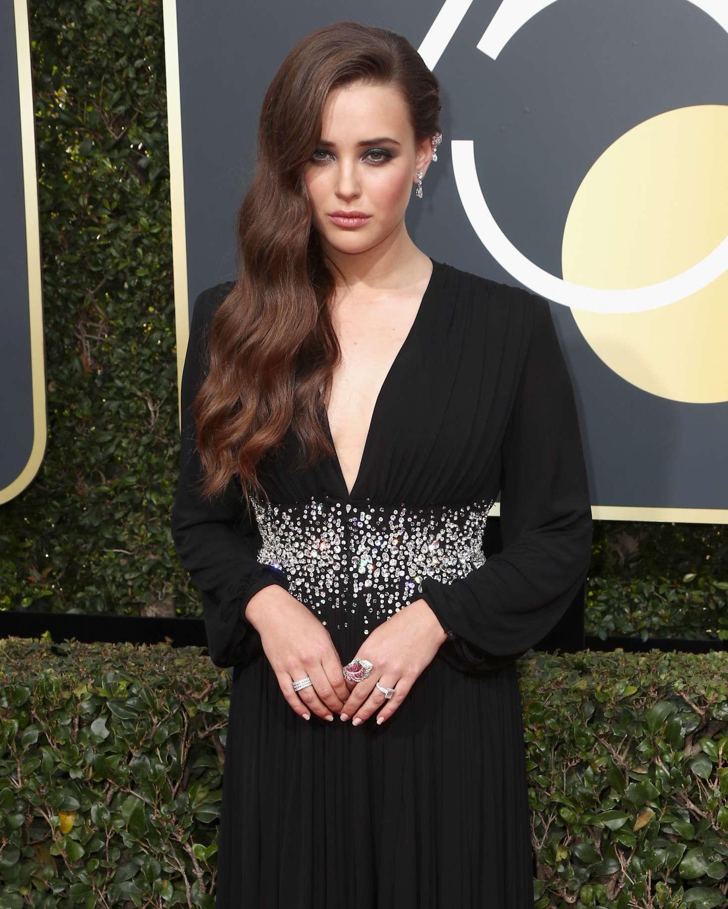 Katherine Langford: 2018 Golden Globe Awards -02