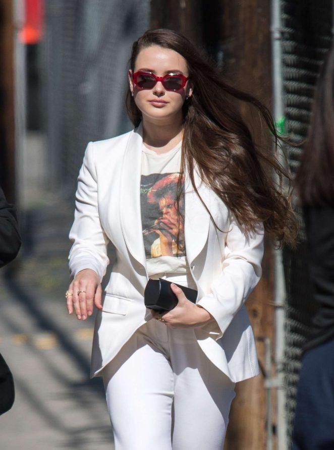 Katherine Langford - Arrives at 'Jimmy Kimmel Live' in Hollywood