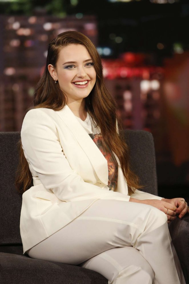 Katherine Langford at Jimmy Kimmel Live! in Los Angeles