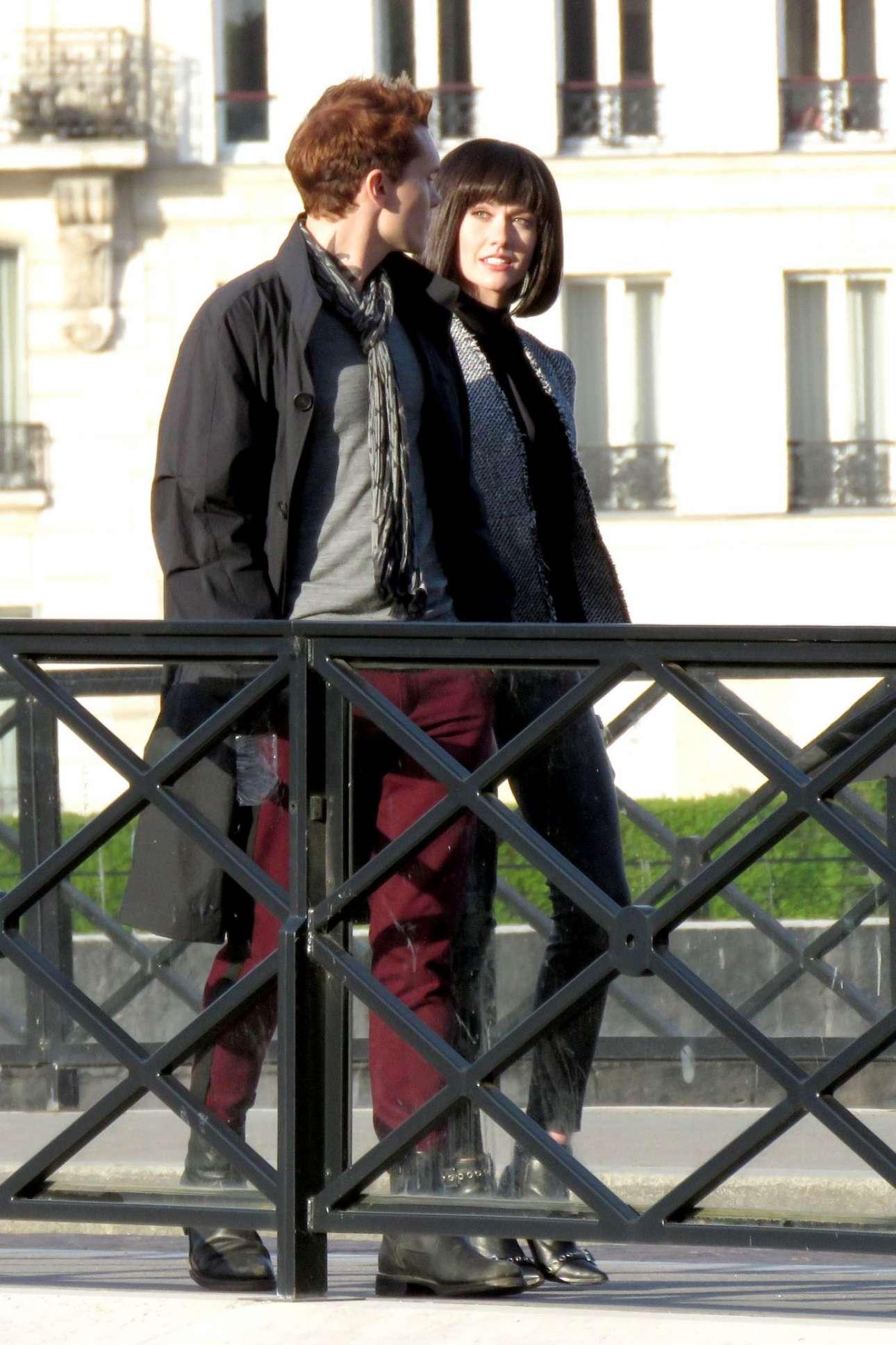 Katherine Mcnamara - Filming Of Shadowhunters - Season 3 In Paris