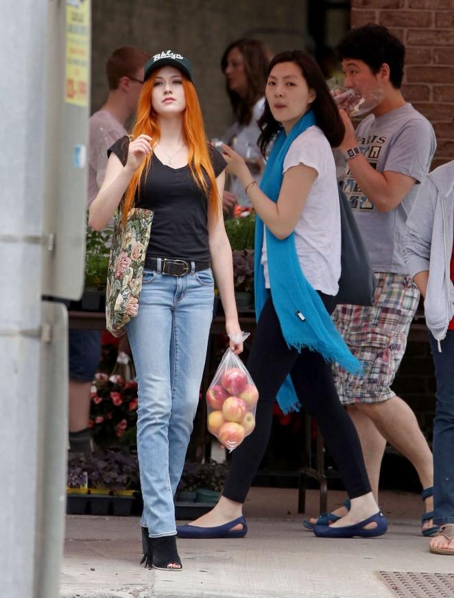 Katherine McNamara in Jeans -02