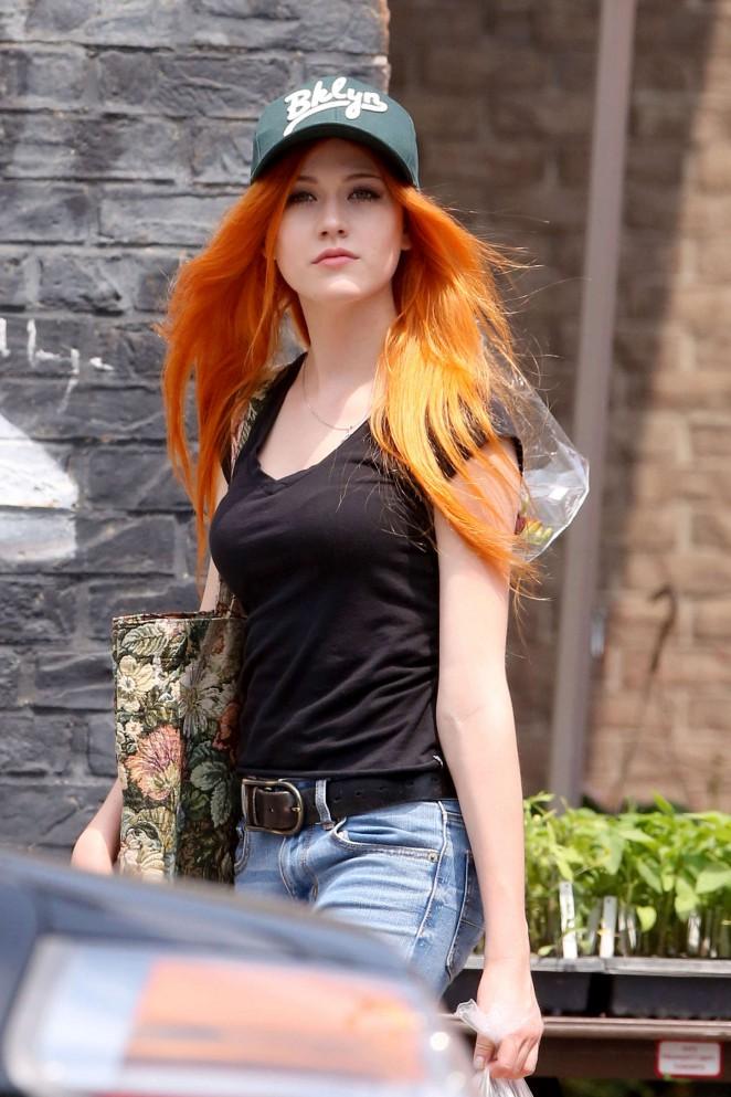 Katherine McNamara in Jeans -04
