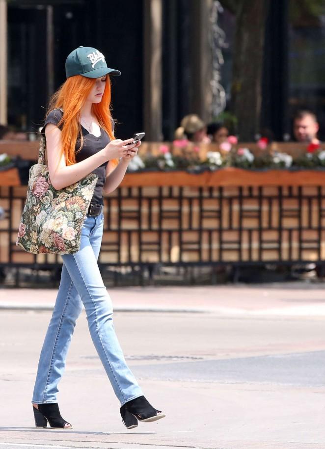 Katherine McNamara in Jeans -09