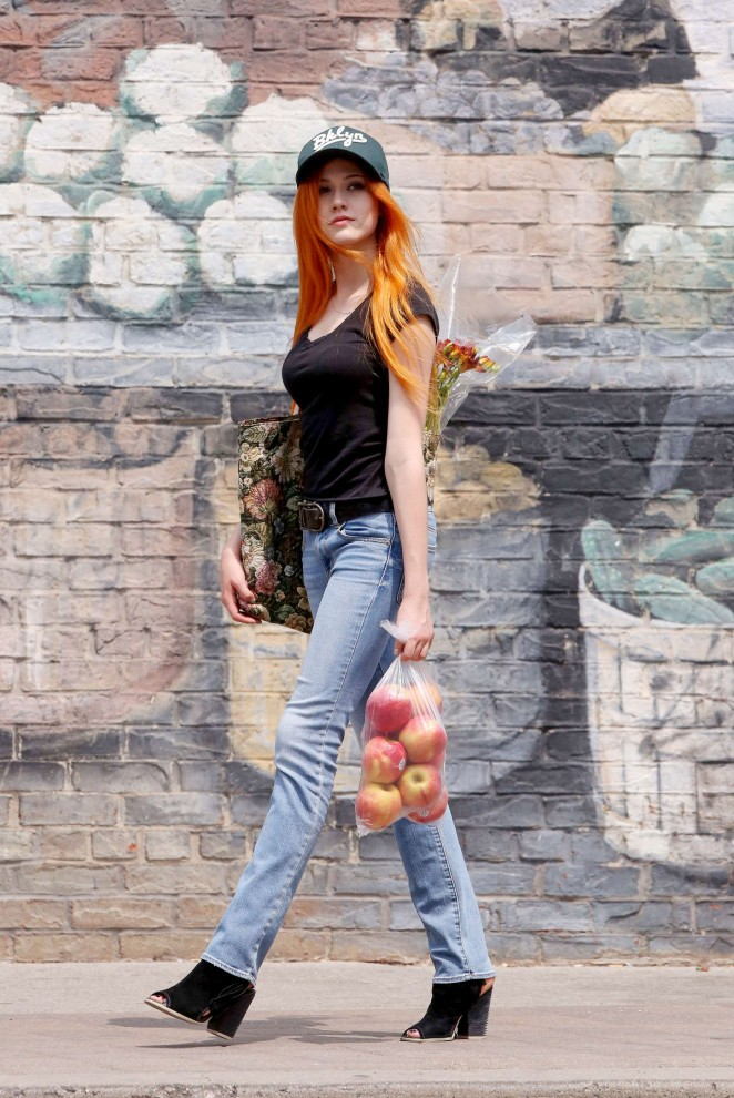 Katherine McNamara in Jeans -11