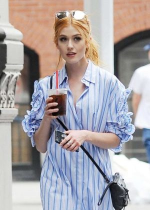 Katherine McNamara Out and about in NYC