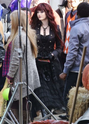 "Katherine McNamara - Filming ""Monsterville: The Cabinet Of Souls"" in Vancouver"