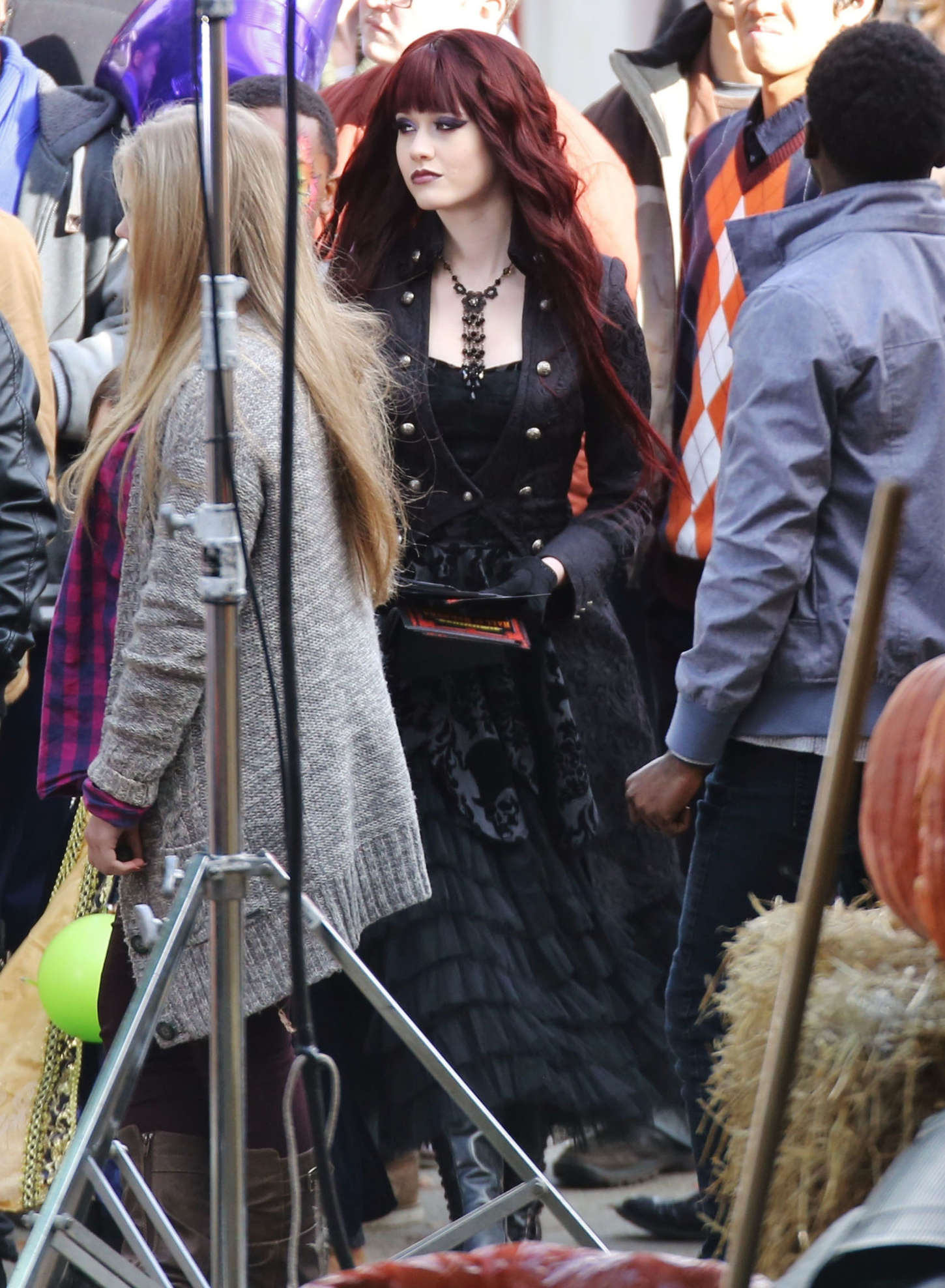 """Katherine McNamara - Filming """"Monsterville: The Cabinet Of Souls"""" in Vancouver"""