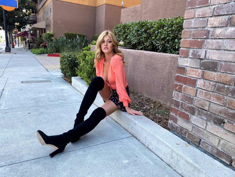 Katherine McNamara - Stuart Weitzman boots photoshoot 2020