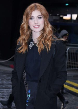 Katherine McNamara - Visiting Good Morning America in New York