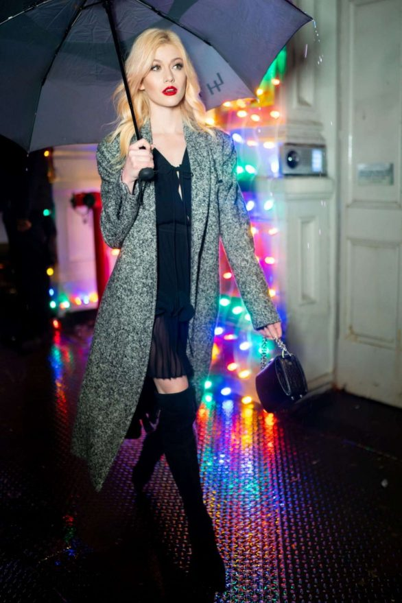 Katherine McNamara - Visits Stella McCartney Holiday Party in New York
