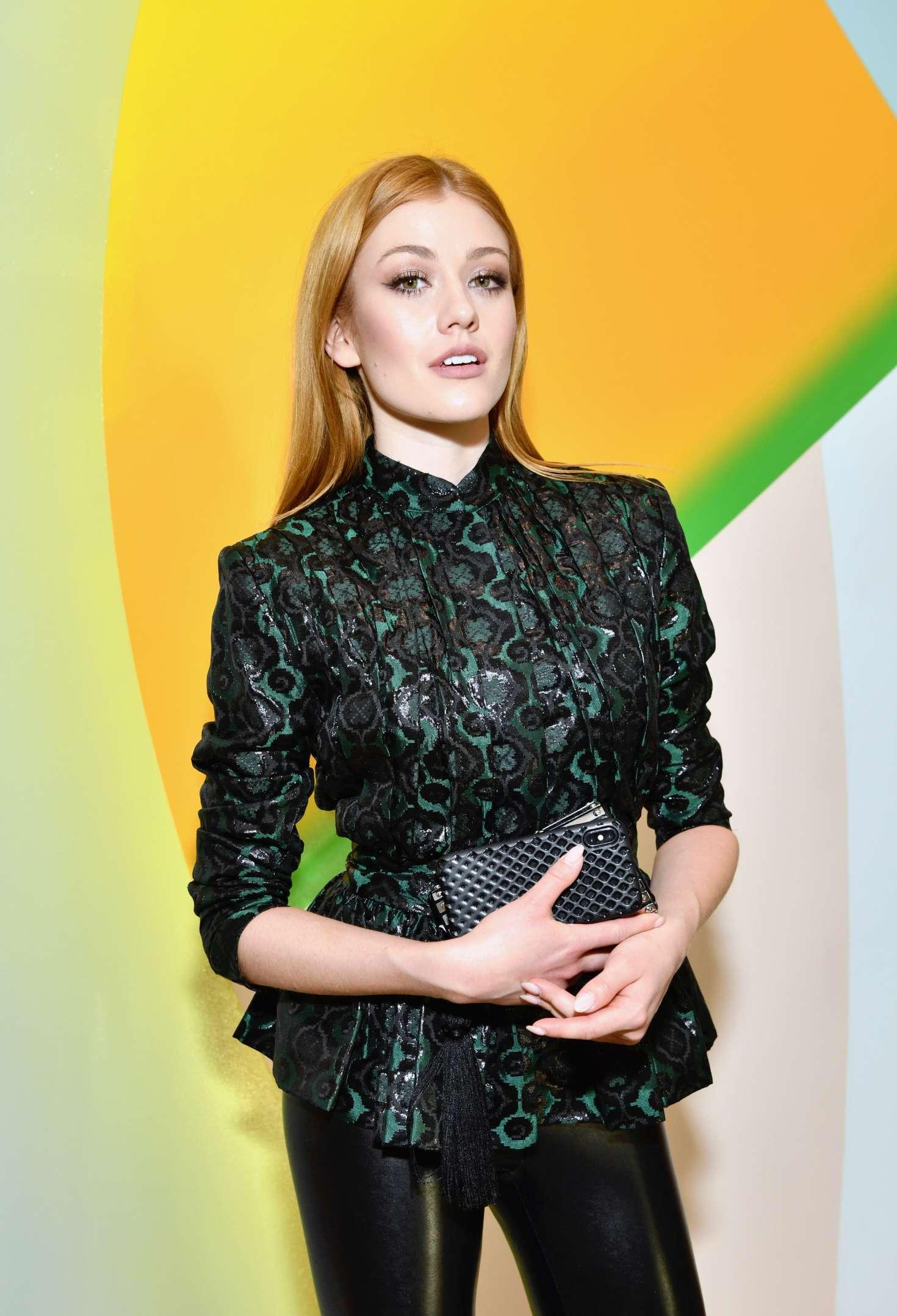 Katherine McNamara - Wolk Morais Collection 7 Fashion Show in Los Angeles