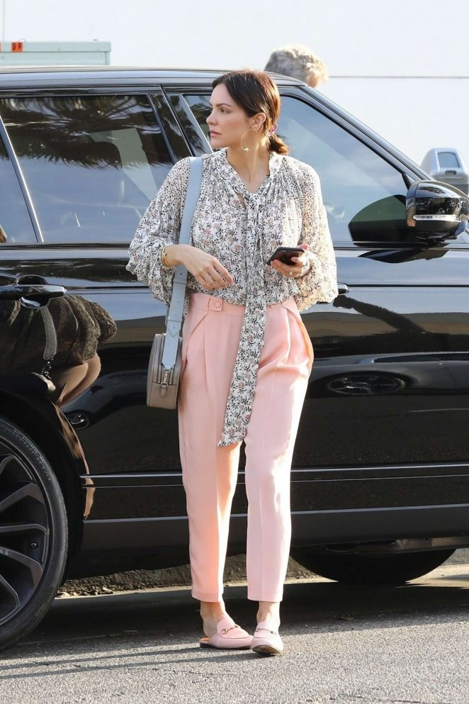 Katherine McPhee – Leaving Il Pastaio in Beverly Hills