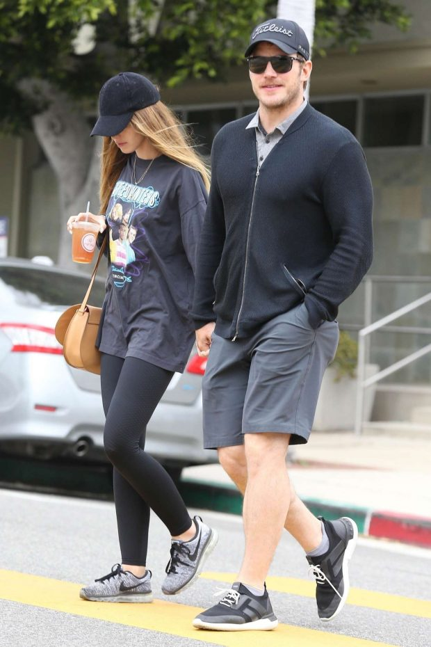Katherine Schwarzenegger and Chris Pratt: Out in Los Angeles -04