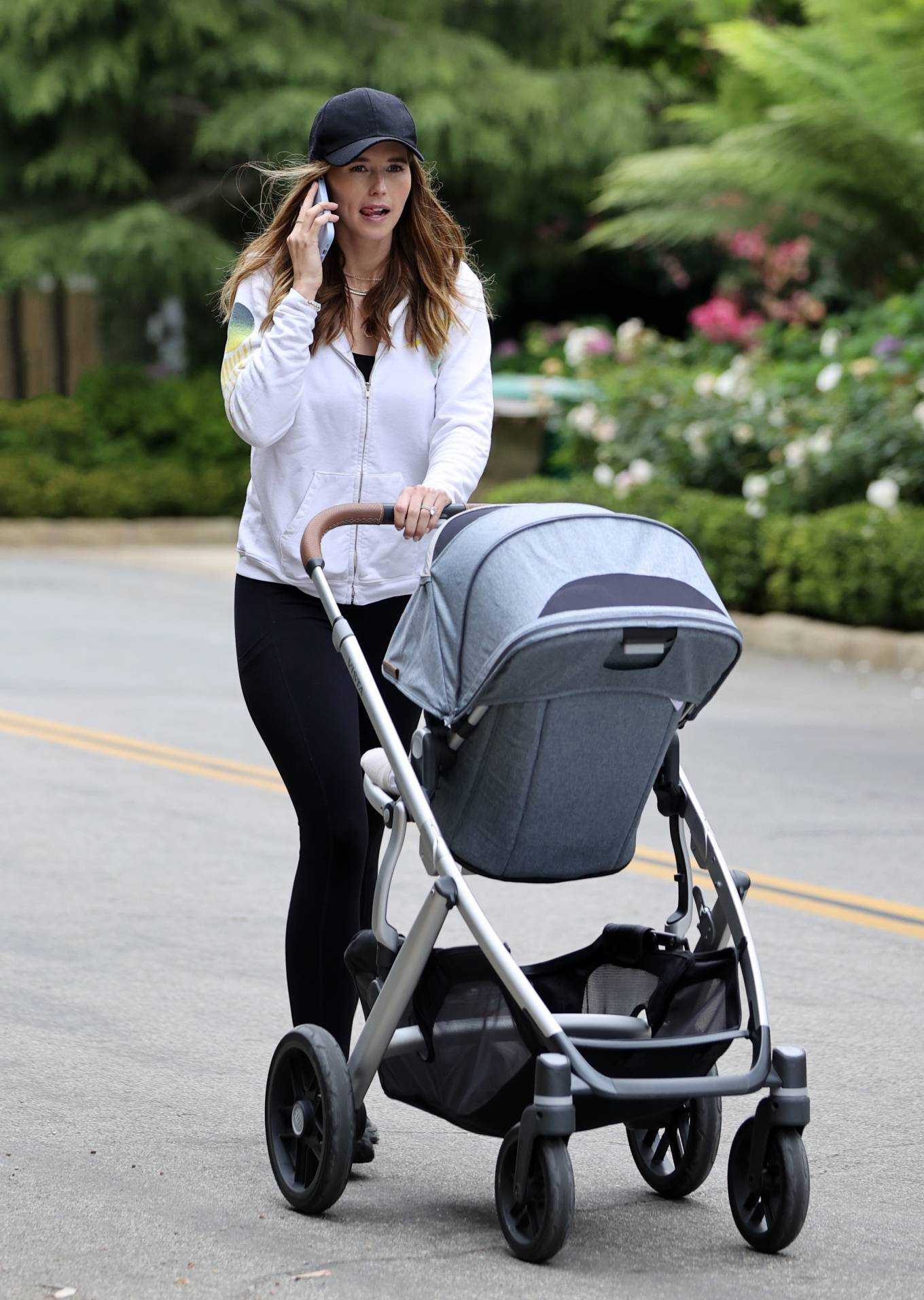 Katherine Schwarzenegger - Out for her morning walk with baby Lyla Maria in Santa Monica