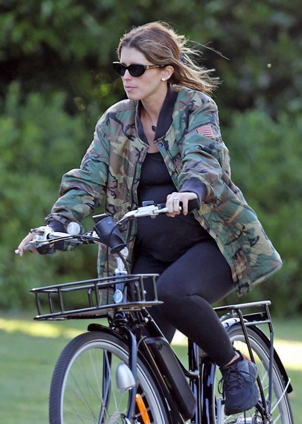 Katherine Schwarzenegger - Out on a bike ride in Los Angeles
