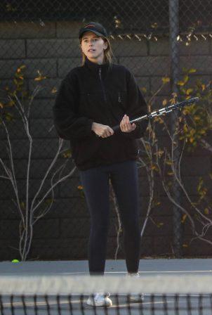 Katherine Schwarzenegger - Play a tennis match in Santa Monica