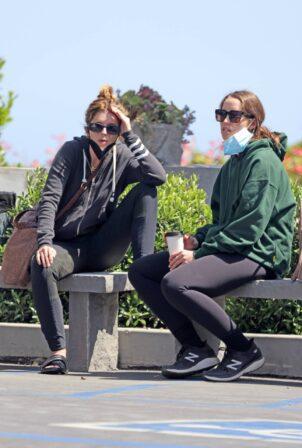 Katherine Schwarzenegger - waits with her sister Christina Schwarzenegger in Santa Barbara