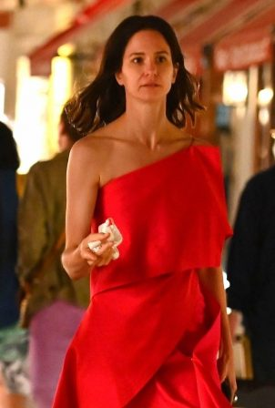 Katherine Waterston are spotted out during 2020 Venice Film Festival