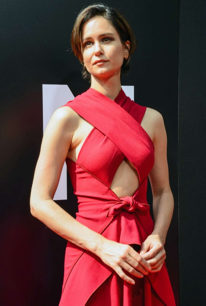 Katherine Waterston at Sir Ridley Scott hand and footprint ceremony in Hollywood