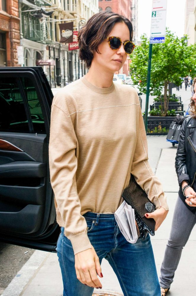 Katherine Waterston in Jeans out in New York City