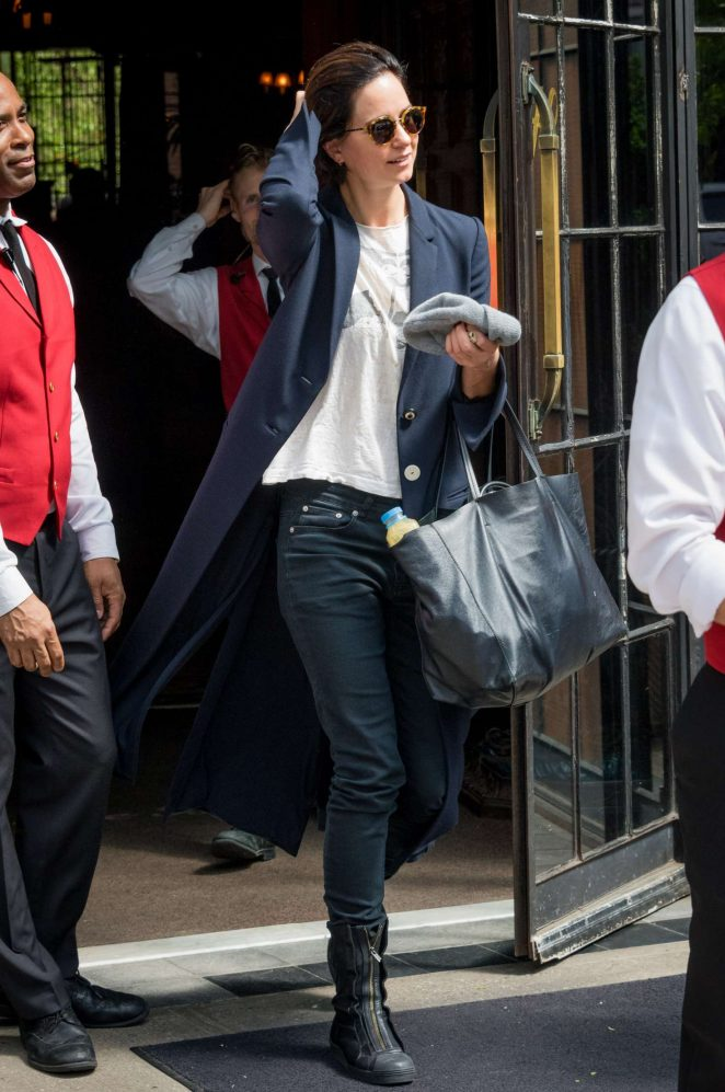 Katherine Waterston Leaves of her hotel in New York City