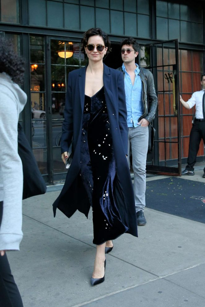 Katherine Waterston Leaves the Bowery Hotel in NYC