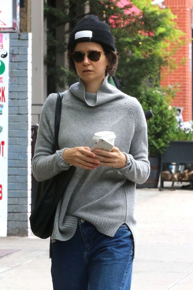 Katherine Waterston out for coffee in NYC