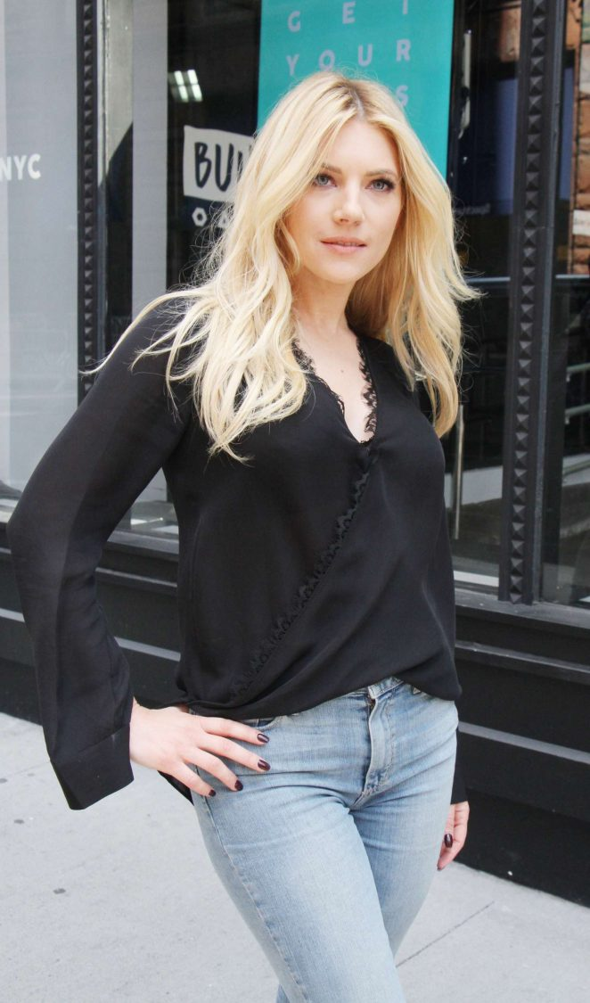 Katheryn Winnick at AOL Build series in New York
