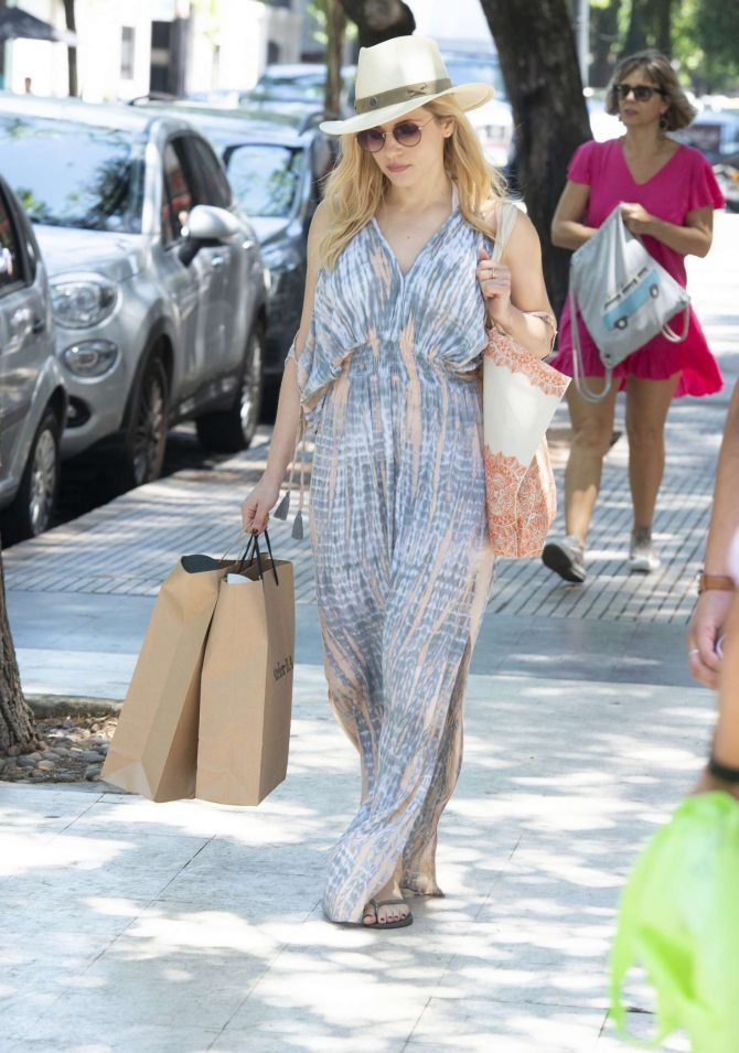 Katheryn Winnick in Summer Dress on vacation in Buenos Aires