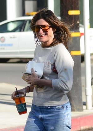 Kathryn Hahn out for coffee in West Hollywood