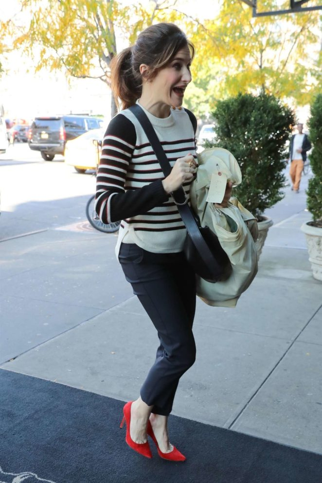 Kathryn Hahn - Returning to the Bowery Hotel in New York