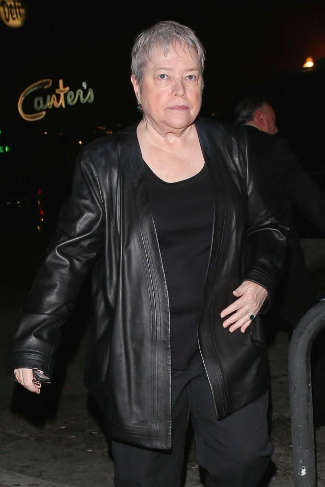 Kathy Bates at Lady Gaga's 30th Birthday Party in LA