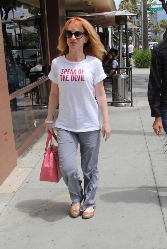 Kathy Griffin - Shopping in Beverly Hills