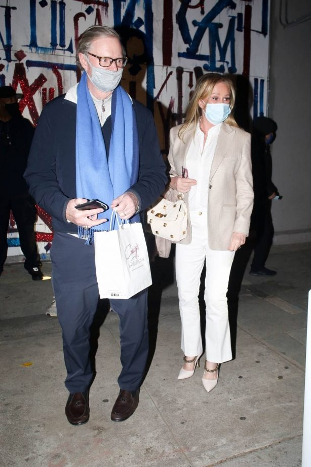 Kathy Hilton - With Rick Hilton step out for a dinner at Craigs in West Hollywood