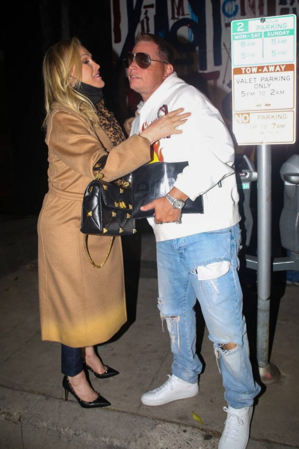 Kathy Hilton - With Scott Storch seen after dinner at Craig's in West Hollywood