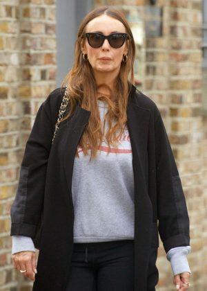Kathy Lloyd out in Knightsbridge