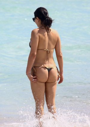 Kathy Picos in Bikini on the beach in Miami Pic 10 of 35