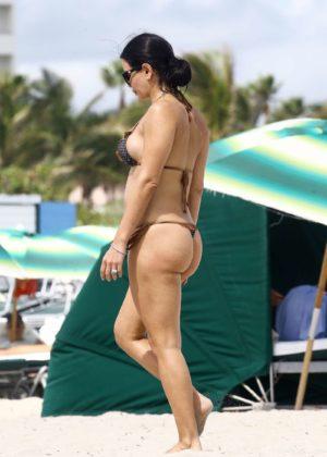 Kathy Picos in Bikini on the beach in Miami Pic 25 of 35