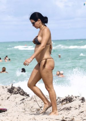 Kathy Picos in Bikini on the beach in Miami Pic 9 of 35